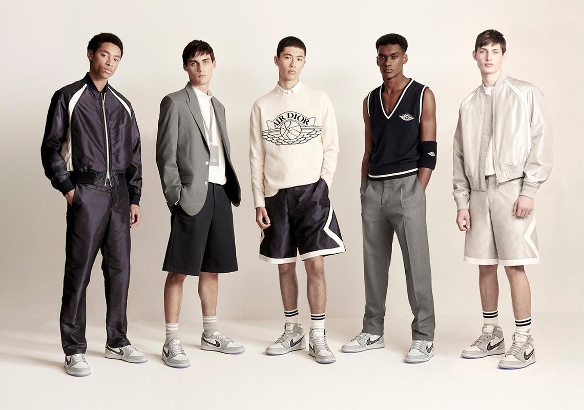 thương hiệu thời trang người mẫu giày sneakers air jordan 1 og dior