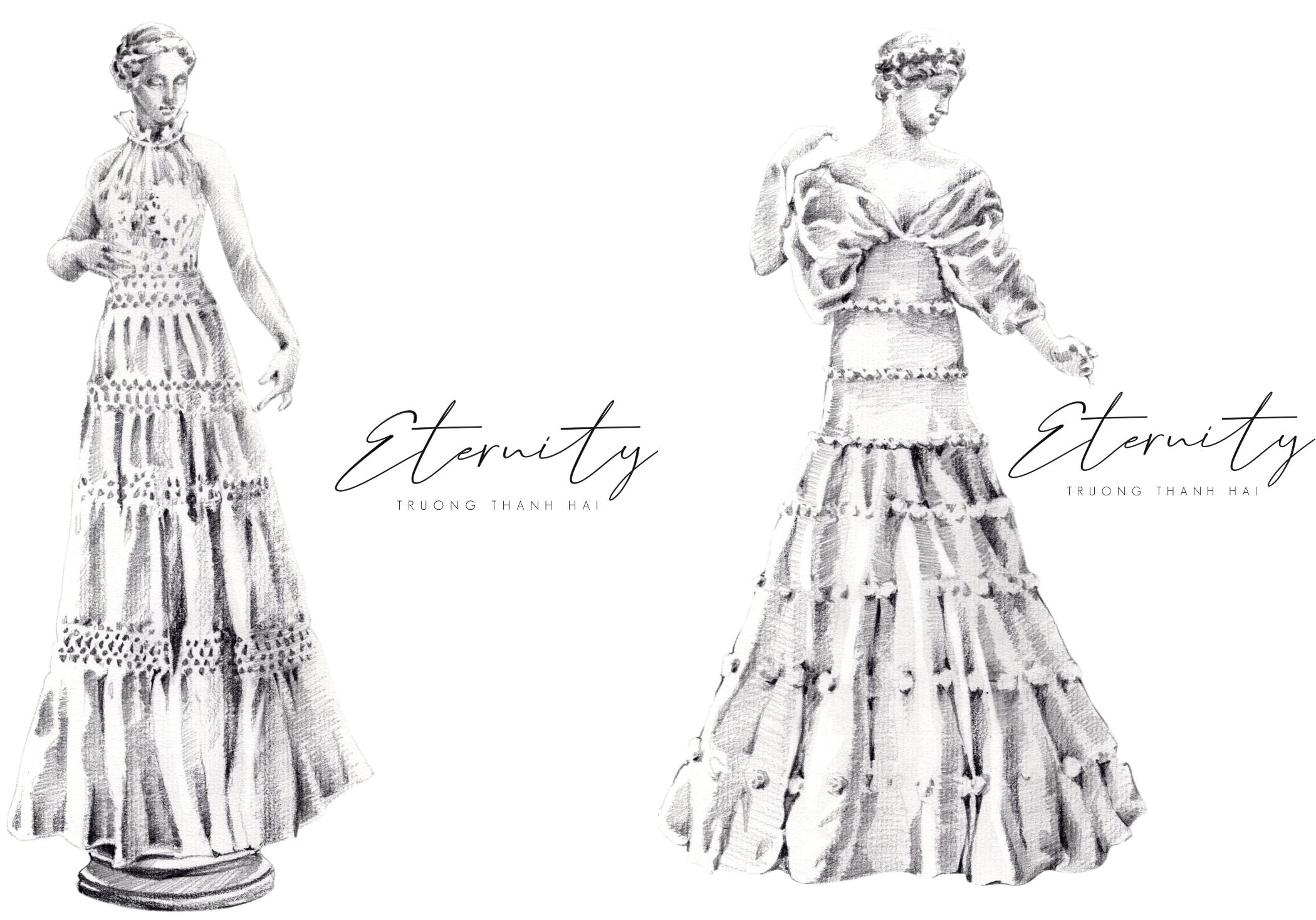 thiết kế áo cưới của ntk trương thanh hải