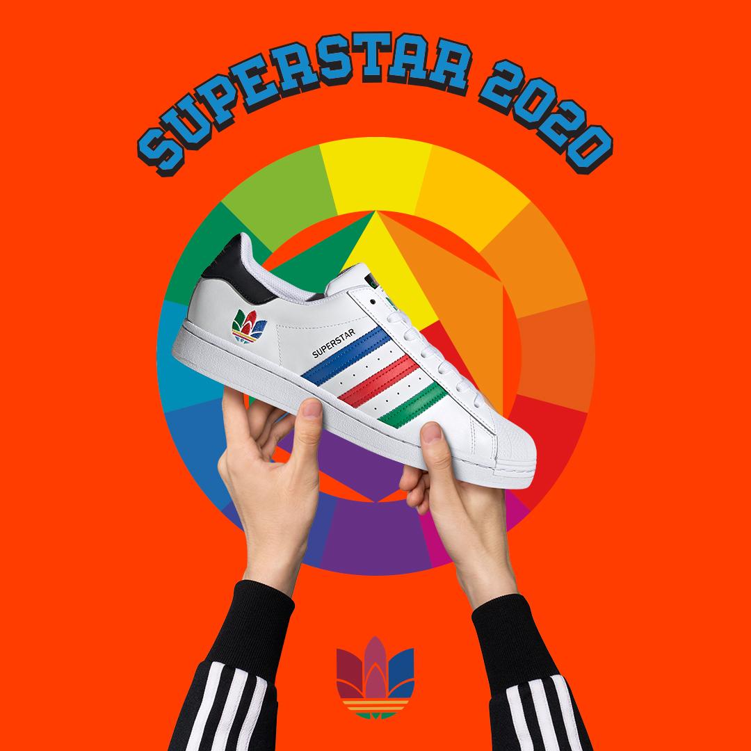 thiết kế giày adidas superstar pure cho nam