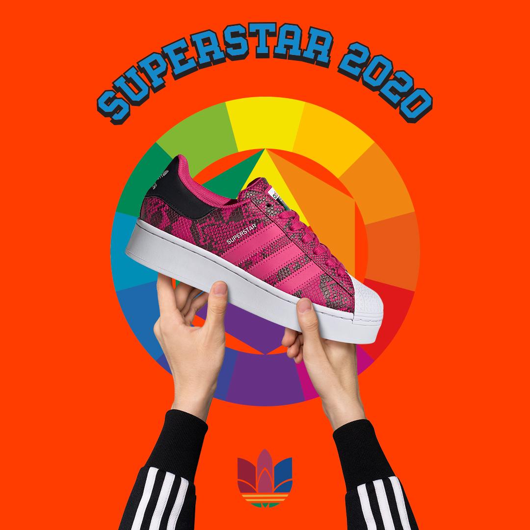 thiết kế giày adidas superstar bold 2020 cho nữ