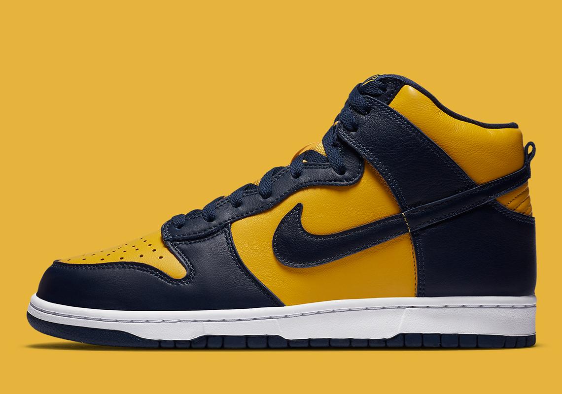 """giày thể thao 21-28.9.2020)- 2. nike dunk high sp """"michigan"""" -elleman(8)"""