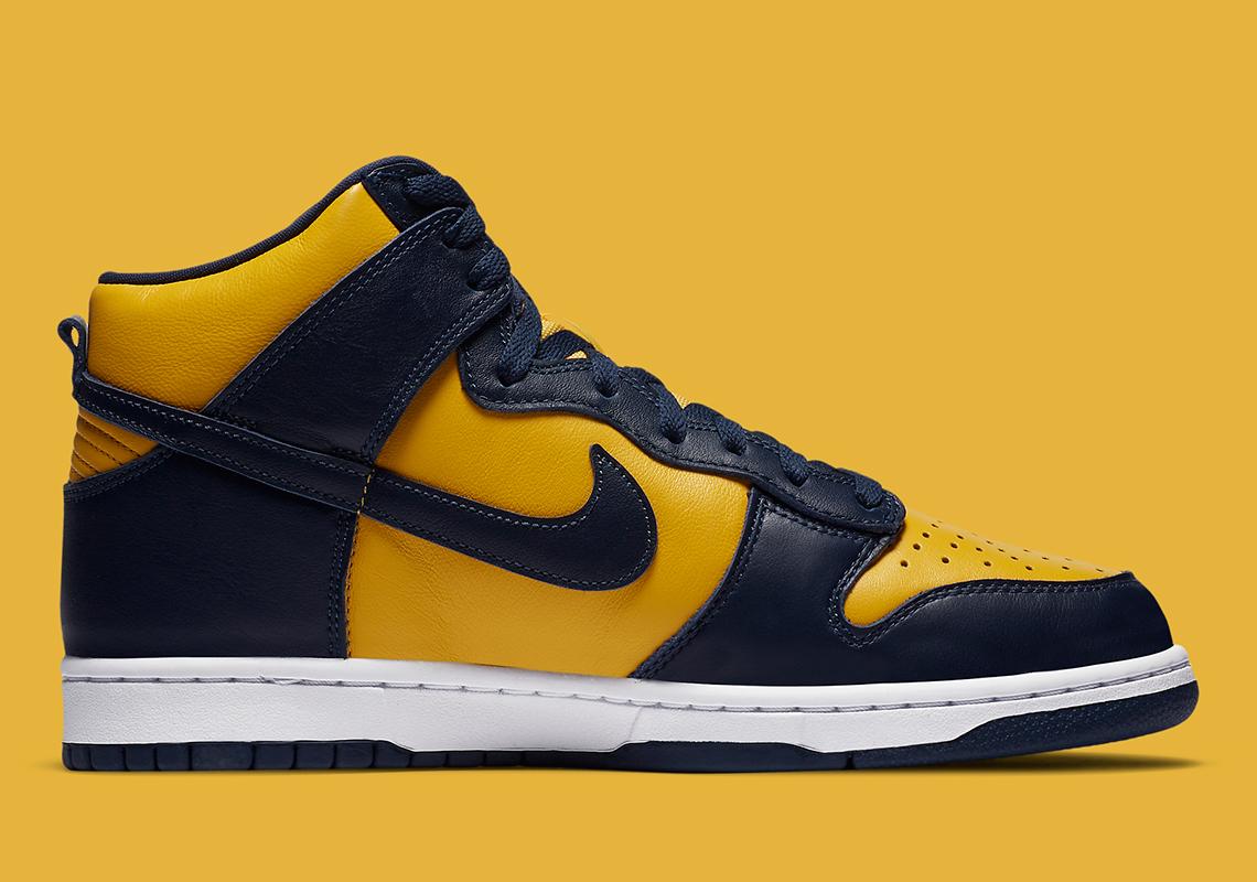 """giày thể thao (21-28.9.2020)- 2. nike dunk high sp """"michigan"""" -elleman(9)"""
