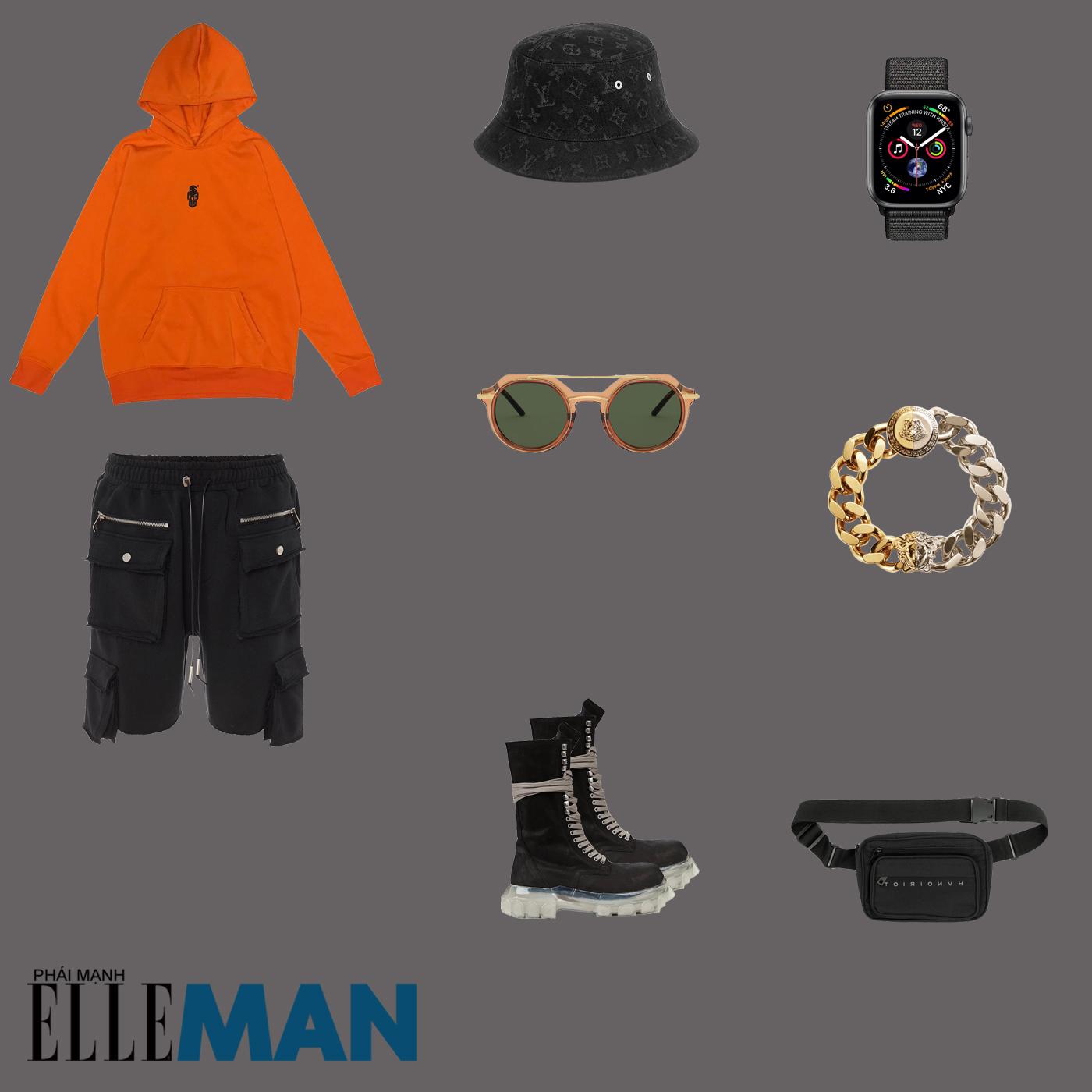 outfit 1 - phối đồ với áo hoodie nam