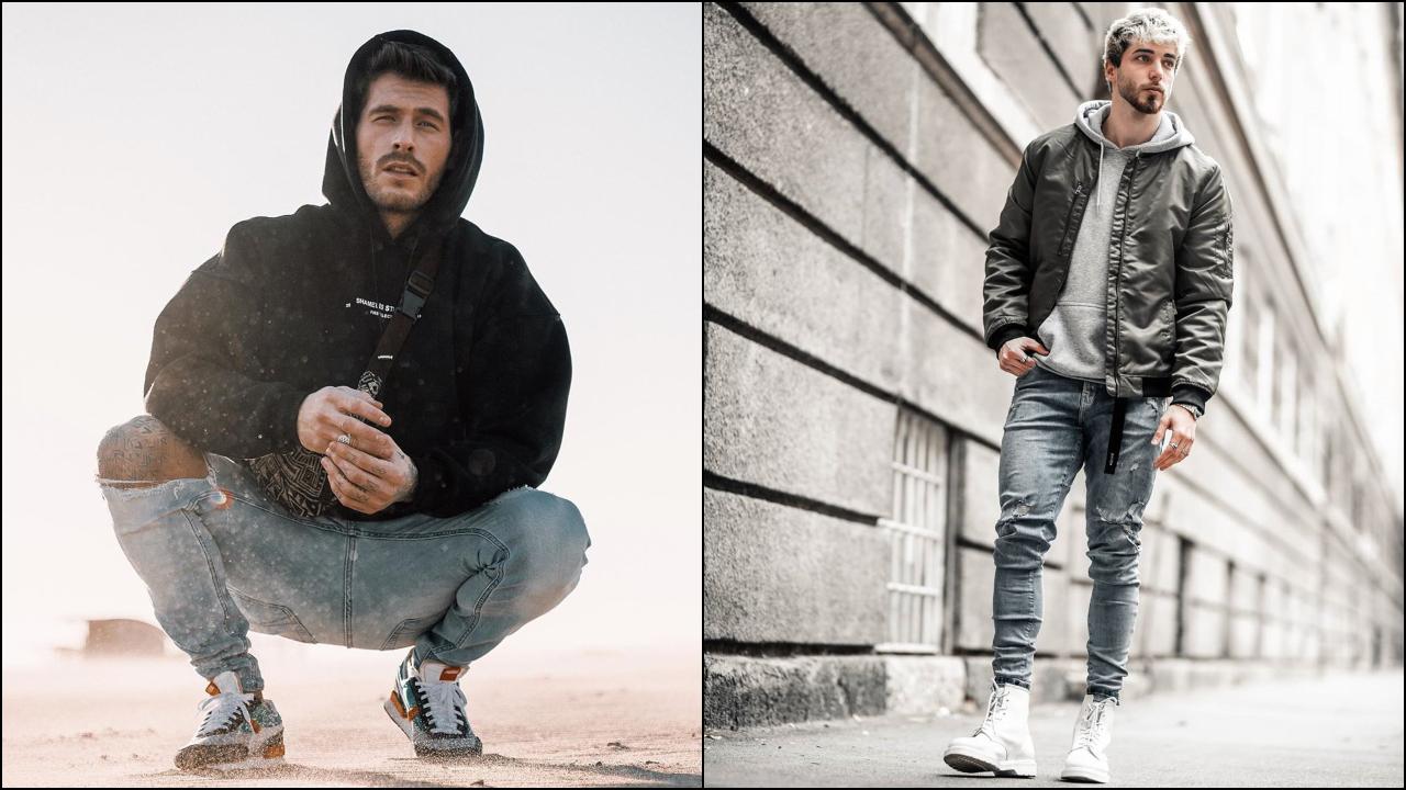 phối đồ với áo hoodie nam - angelo và kris