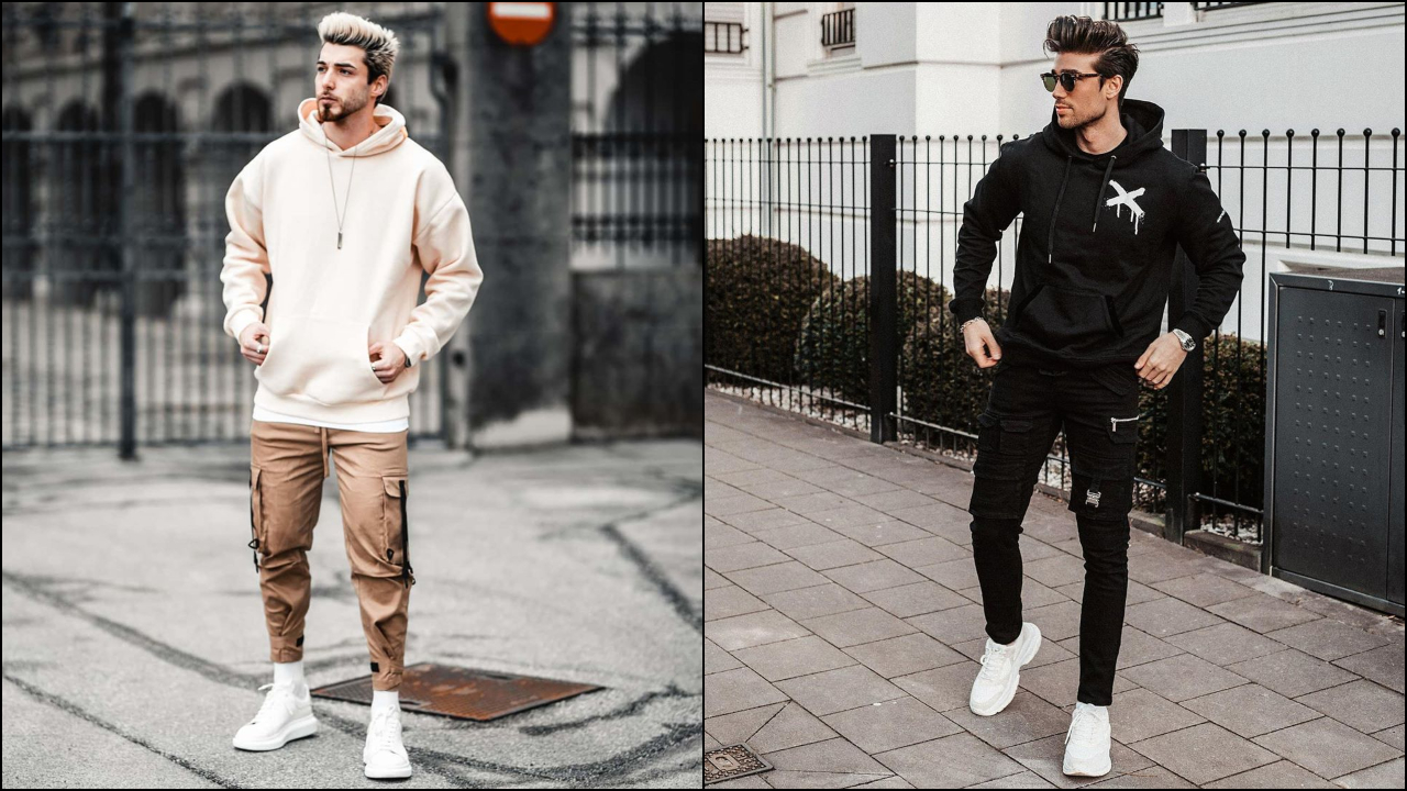 phối đồ với áo hoodie nam - zeno và kris