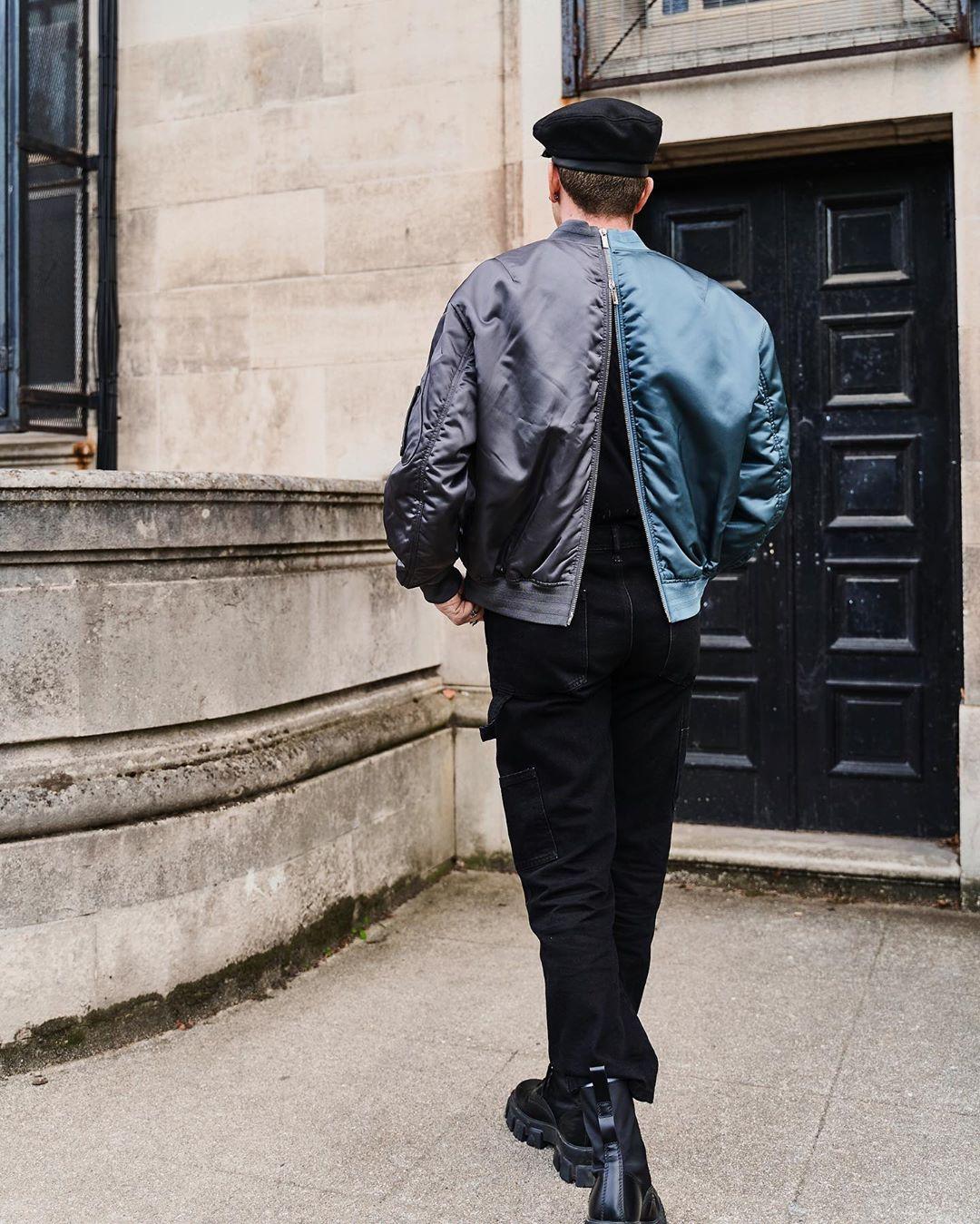 sao nam gallucks diện áo khoác dior phía sau