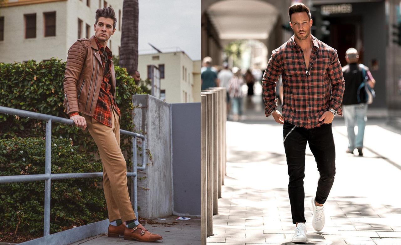 phối đồ với áo sơ mi flannel - parker và daniel