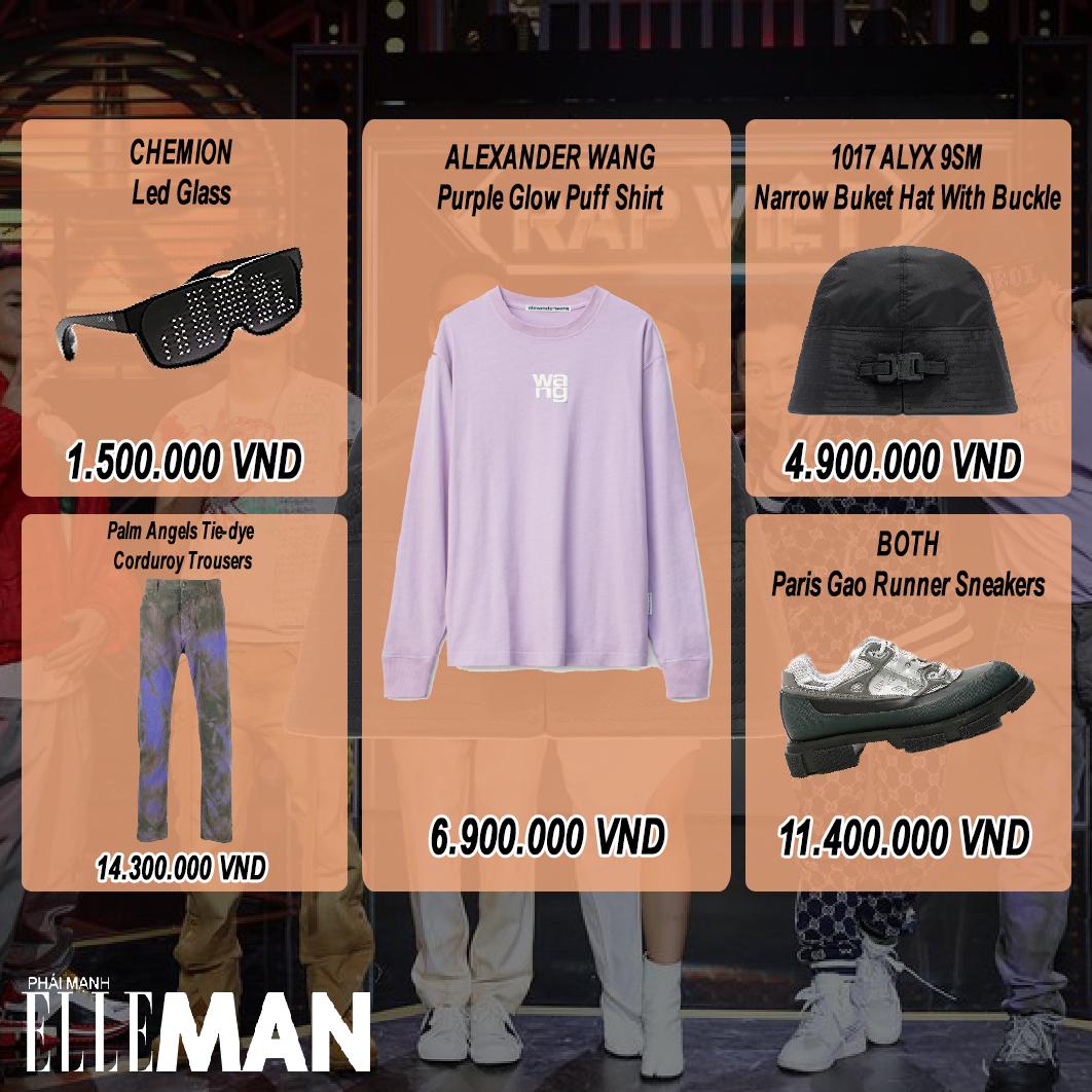 thoi trang rap viet tap 9 - wowy - layout outfit - elleman 2