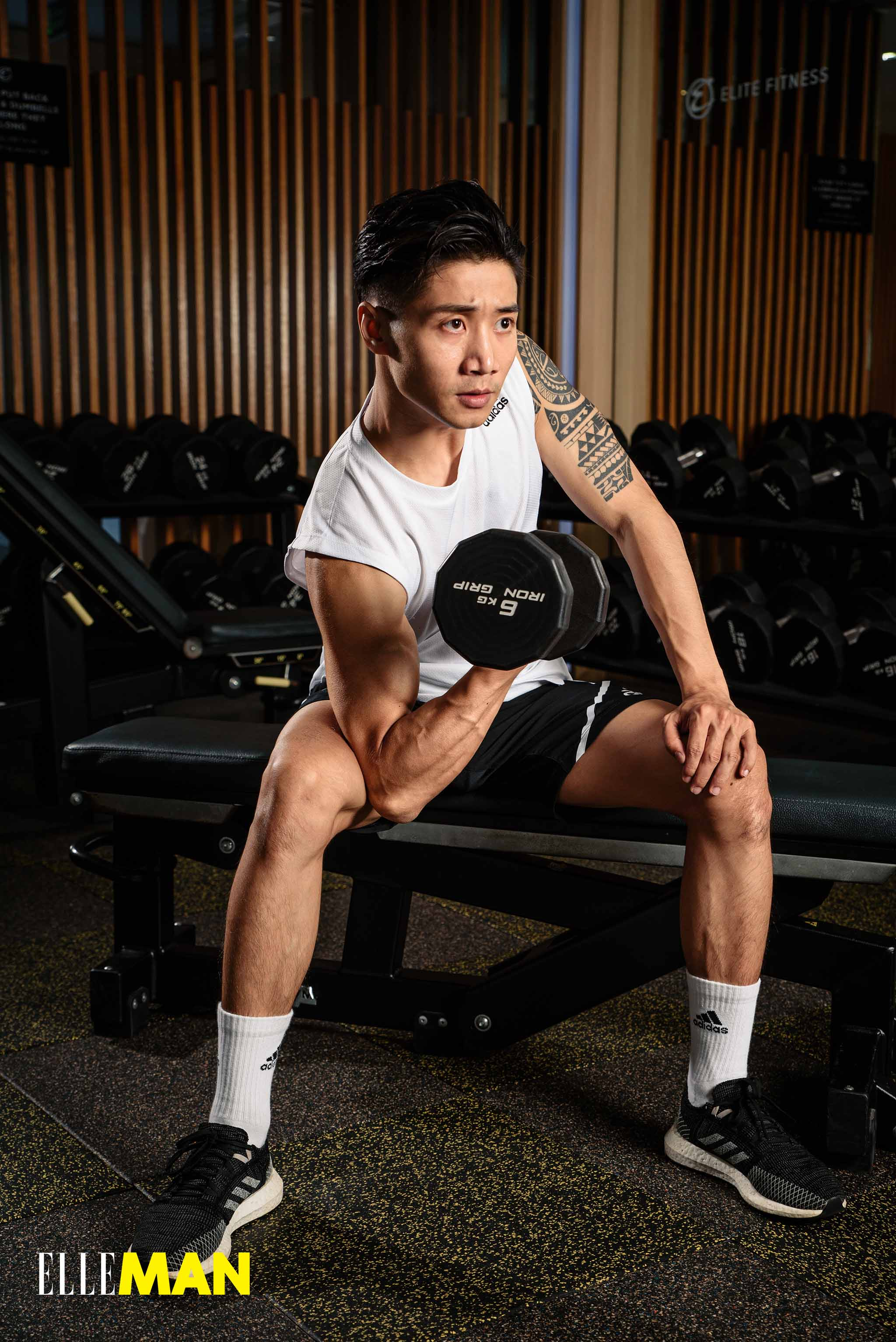 tap gym bai tap tay - Concentration Curl - elle man 2