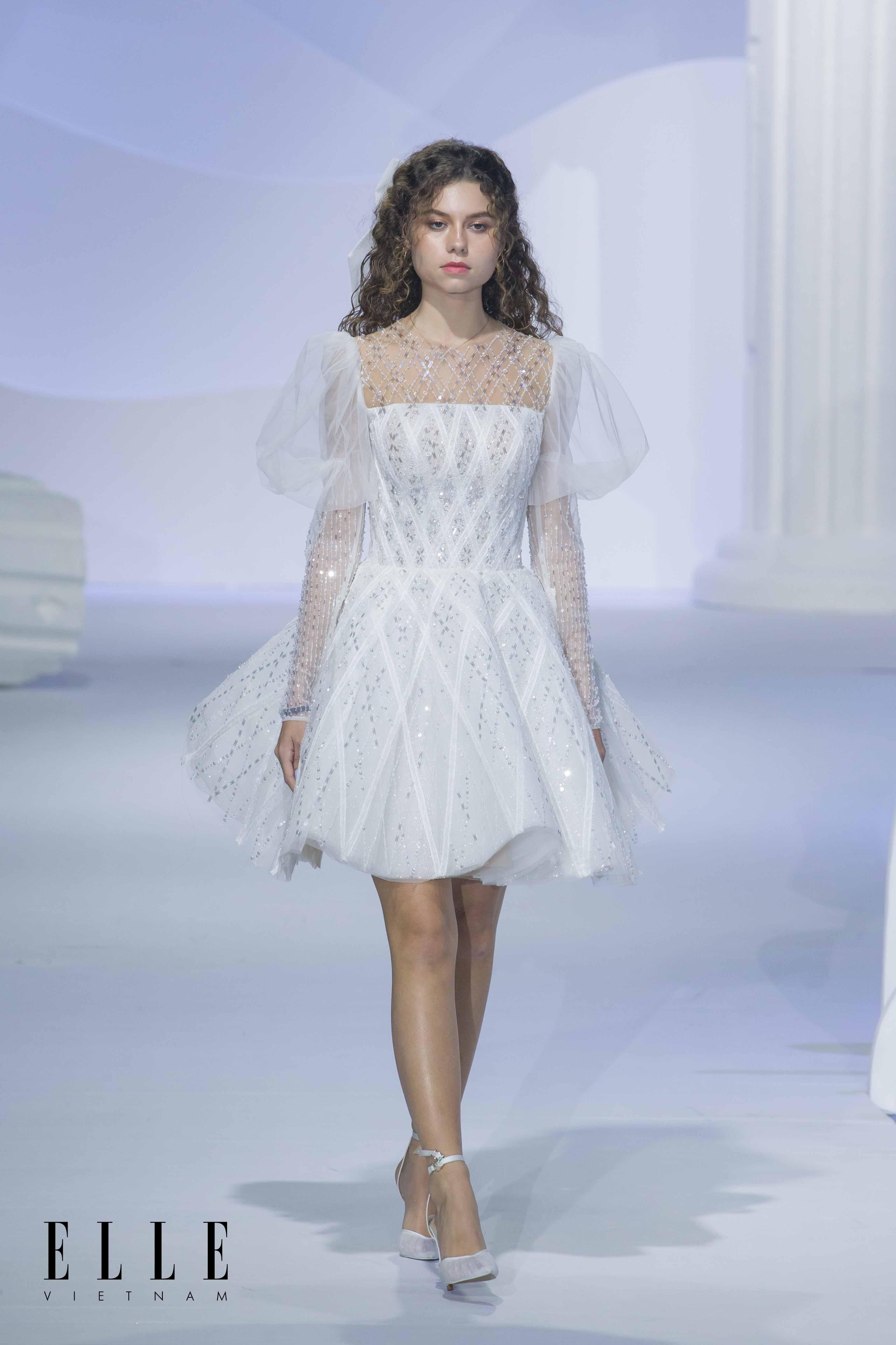 BST Dear my princess áo cưới trắng ngắn