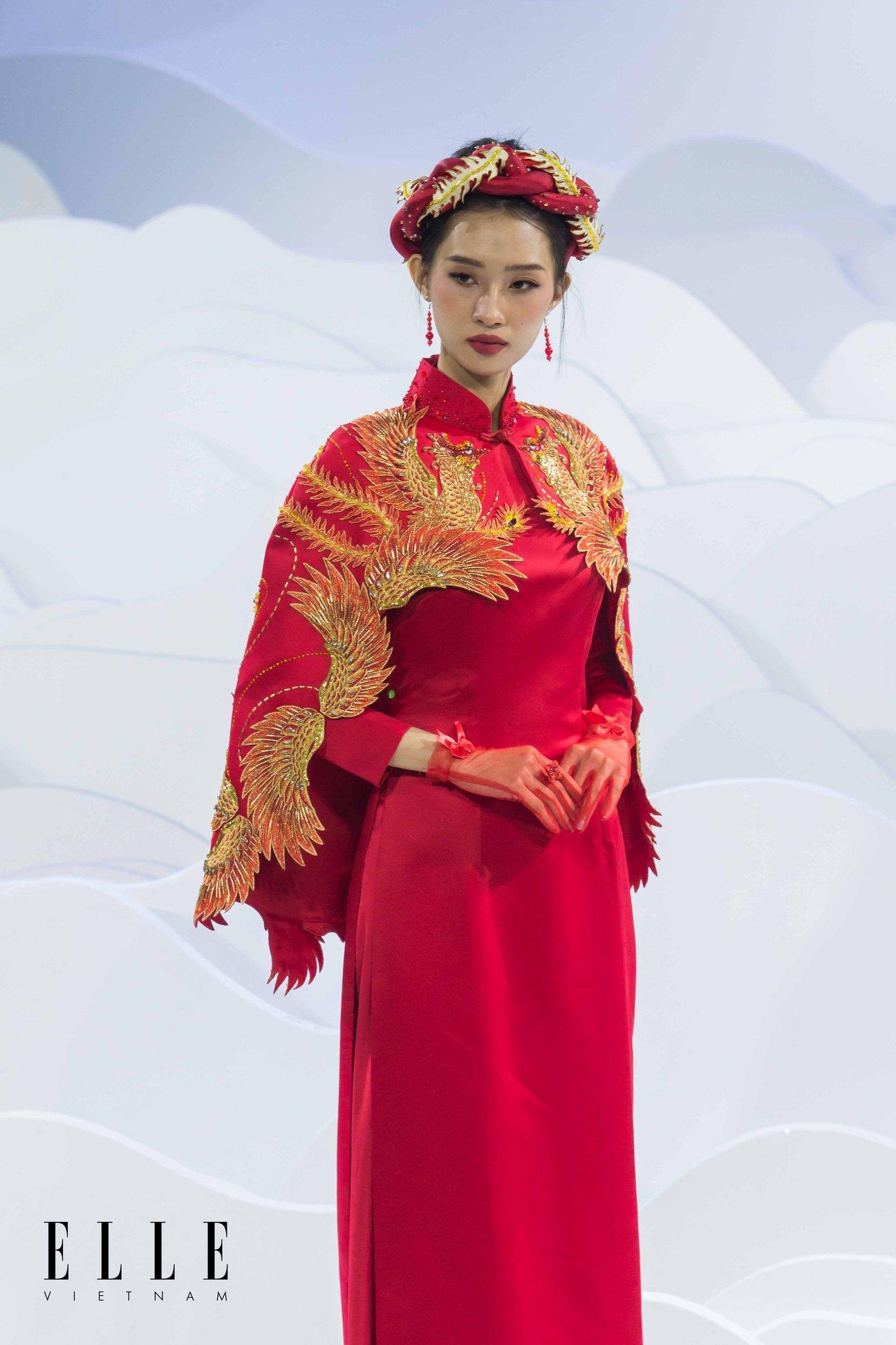 elle wedding art gallery áo dài cưới đỏ