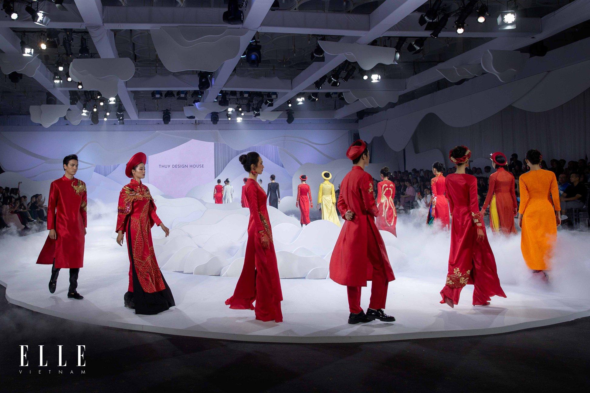 elle wedding art gallery người mẫu trong show của ntk thuỷ nguyễn