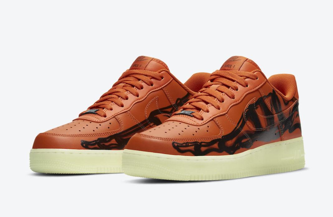 giay the thao hot tu 25-31.10.2020- Nike-Air-Force-1-Orange-Skeleton-CU8067-800-Release-Date (3)