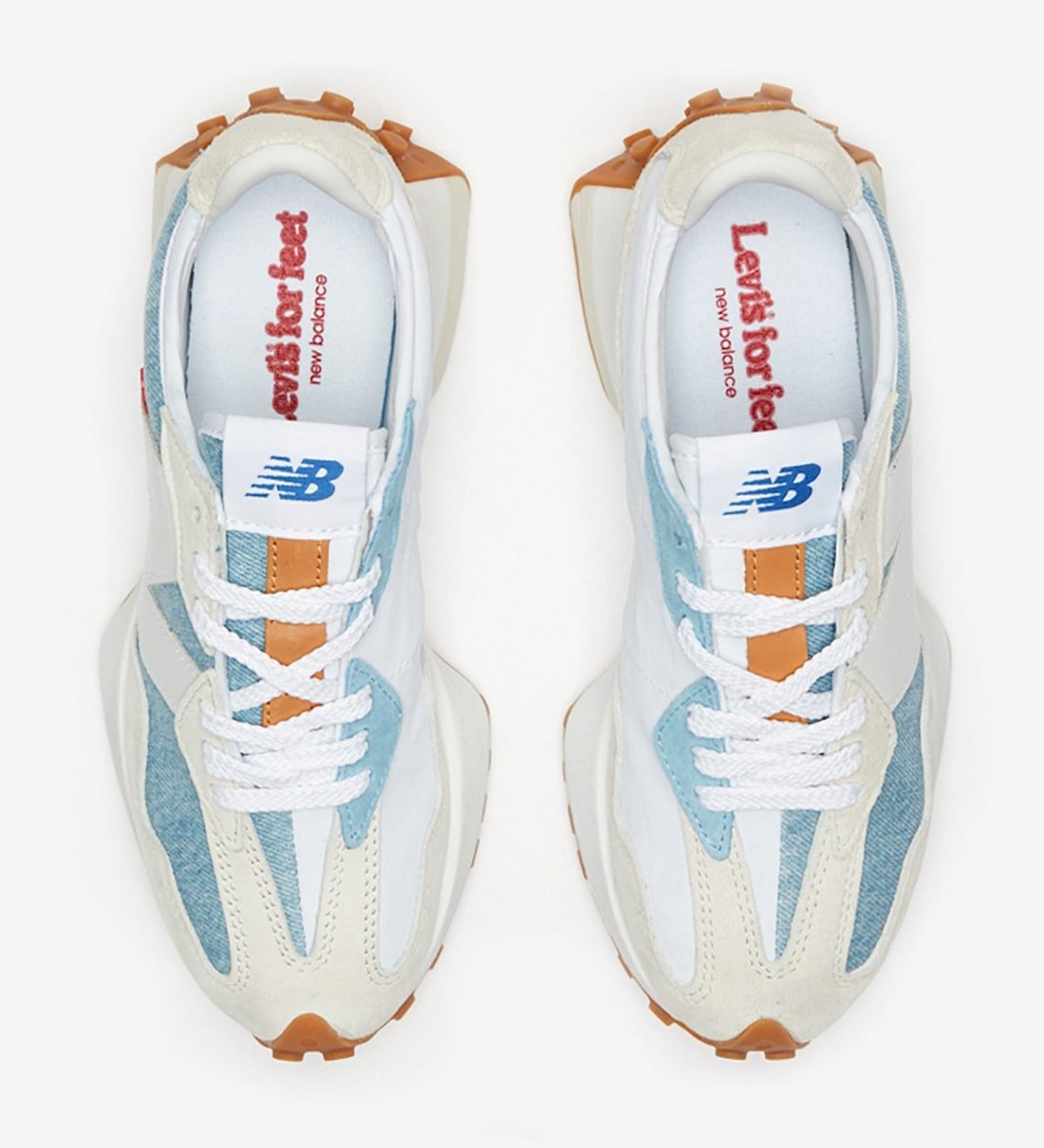 giày thể thao NEW BALANCE 327 x LEVI'S baby blue