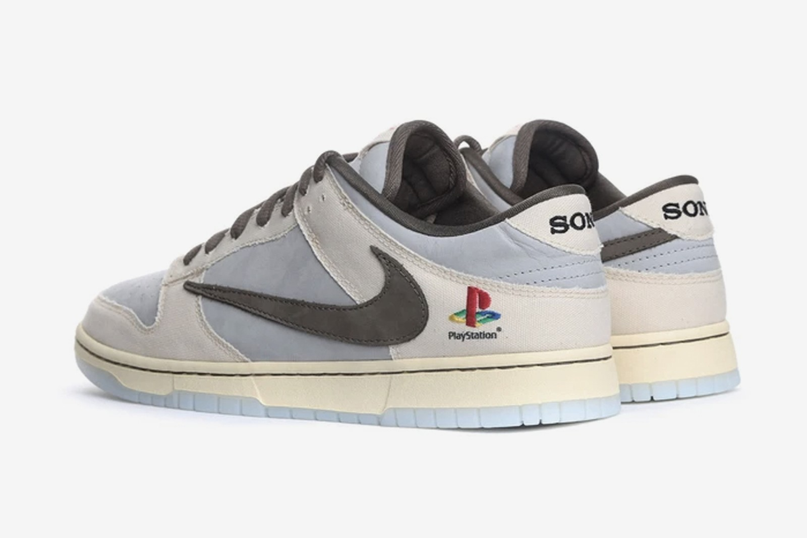 giày thể thao dunk low travis Scott x playstation