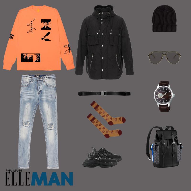 outfit 1 - phoi do voi ao chui co