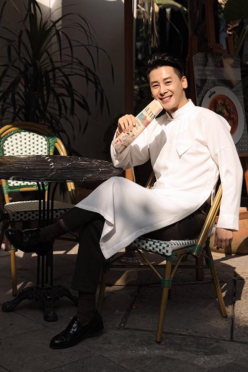 áo dài nam tiệm long