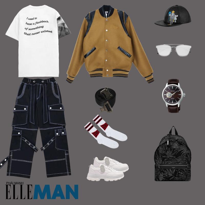 outfit 1 - phoi do voi giay the thao local brand