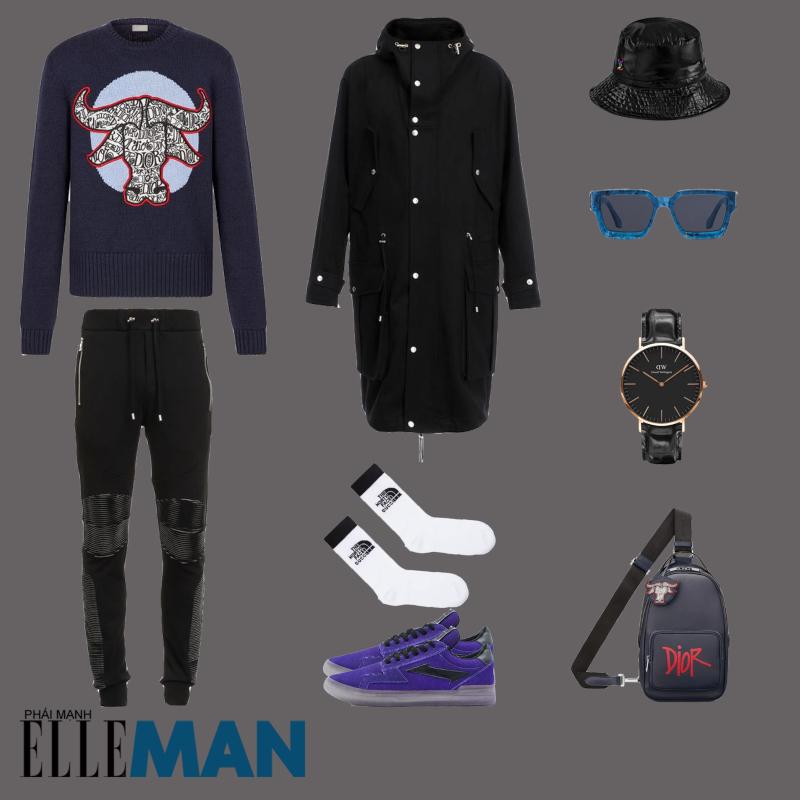 outfit 4 - phoi do voi giay the thao local brand
