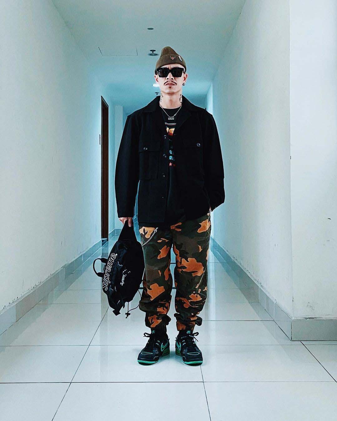 thời trang sao nam việt max streetwear