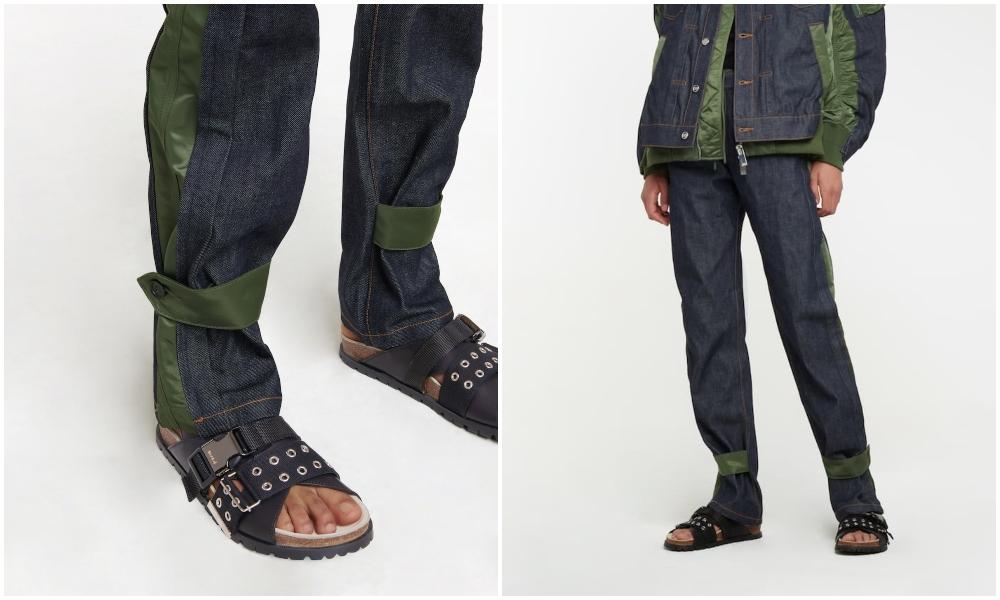 sacai x APC Sandals