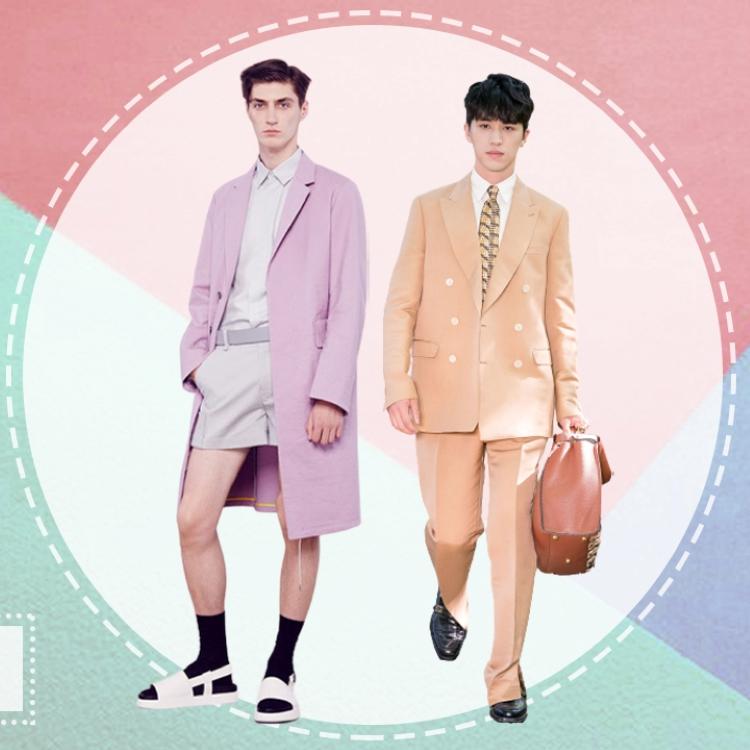 ins featured elle man style calendar -trang phuc pastel