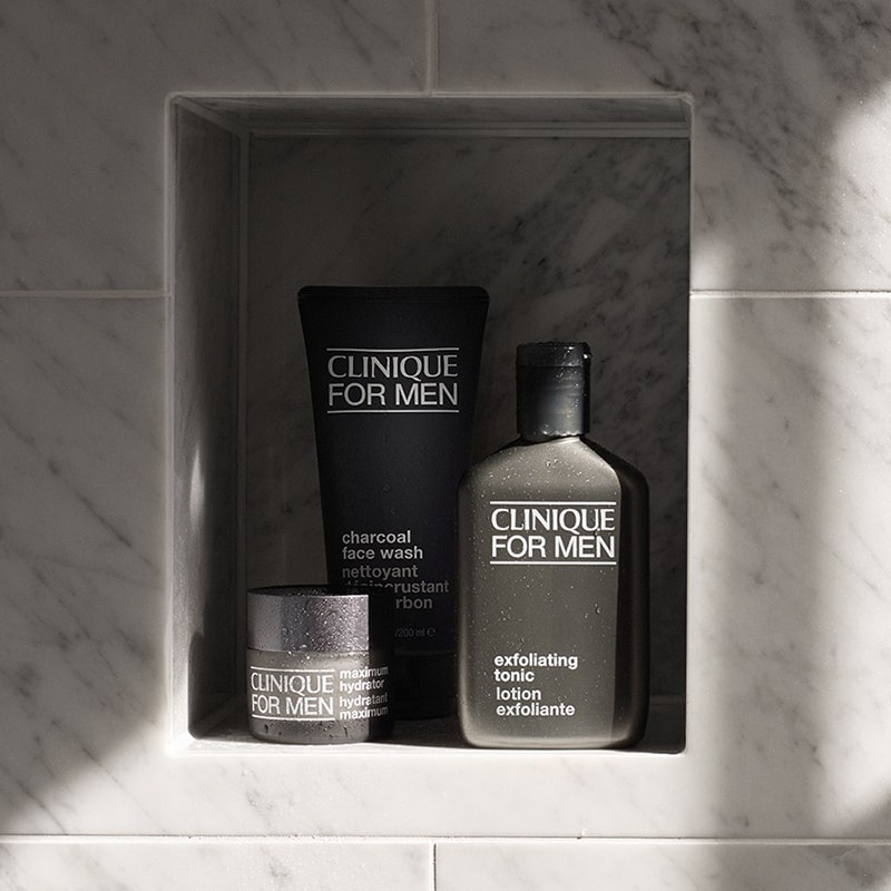 Clinique for Men Face Scrub.