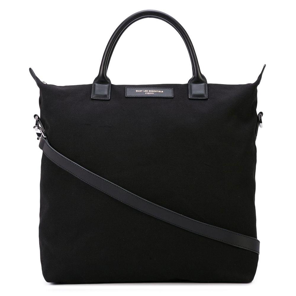 Túi tote thời trang nam màu đen