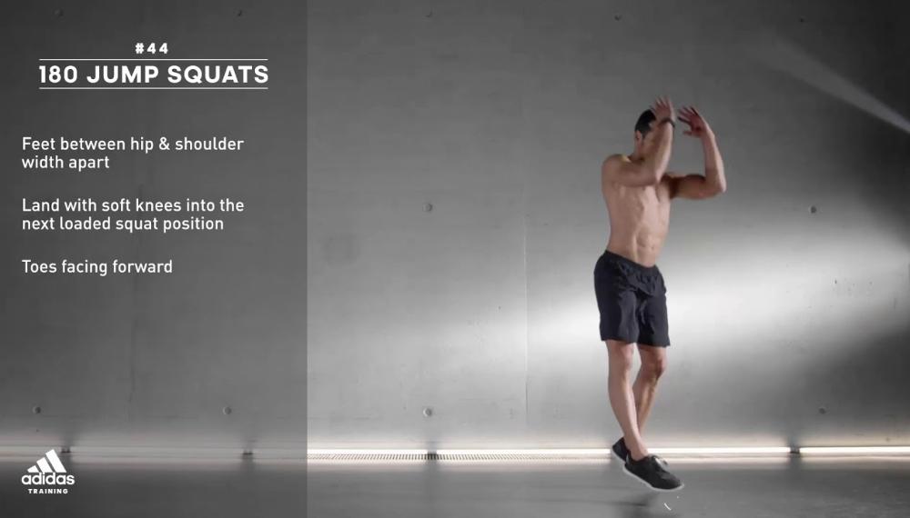 jump squats cho nam tại nhà