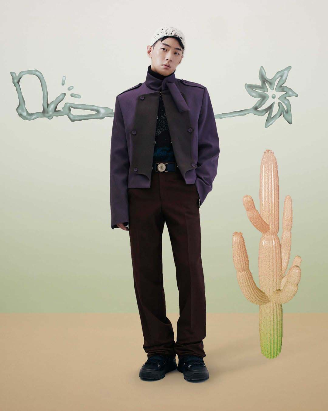 gray-lee-seong-hwa tại dior x Cactus Jack show