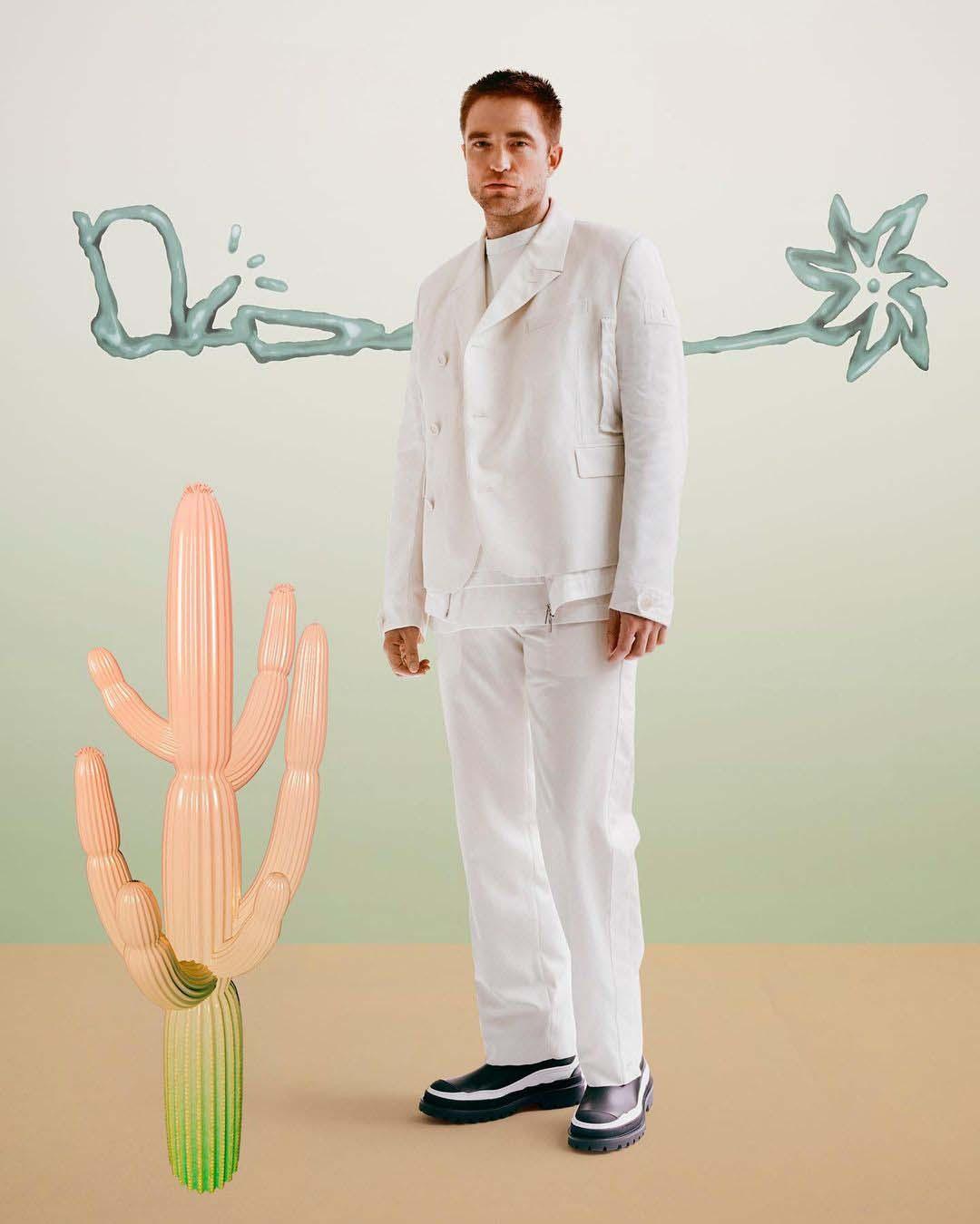 thời trang robert-pattinson dior x Cactus Jack show