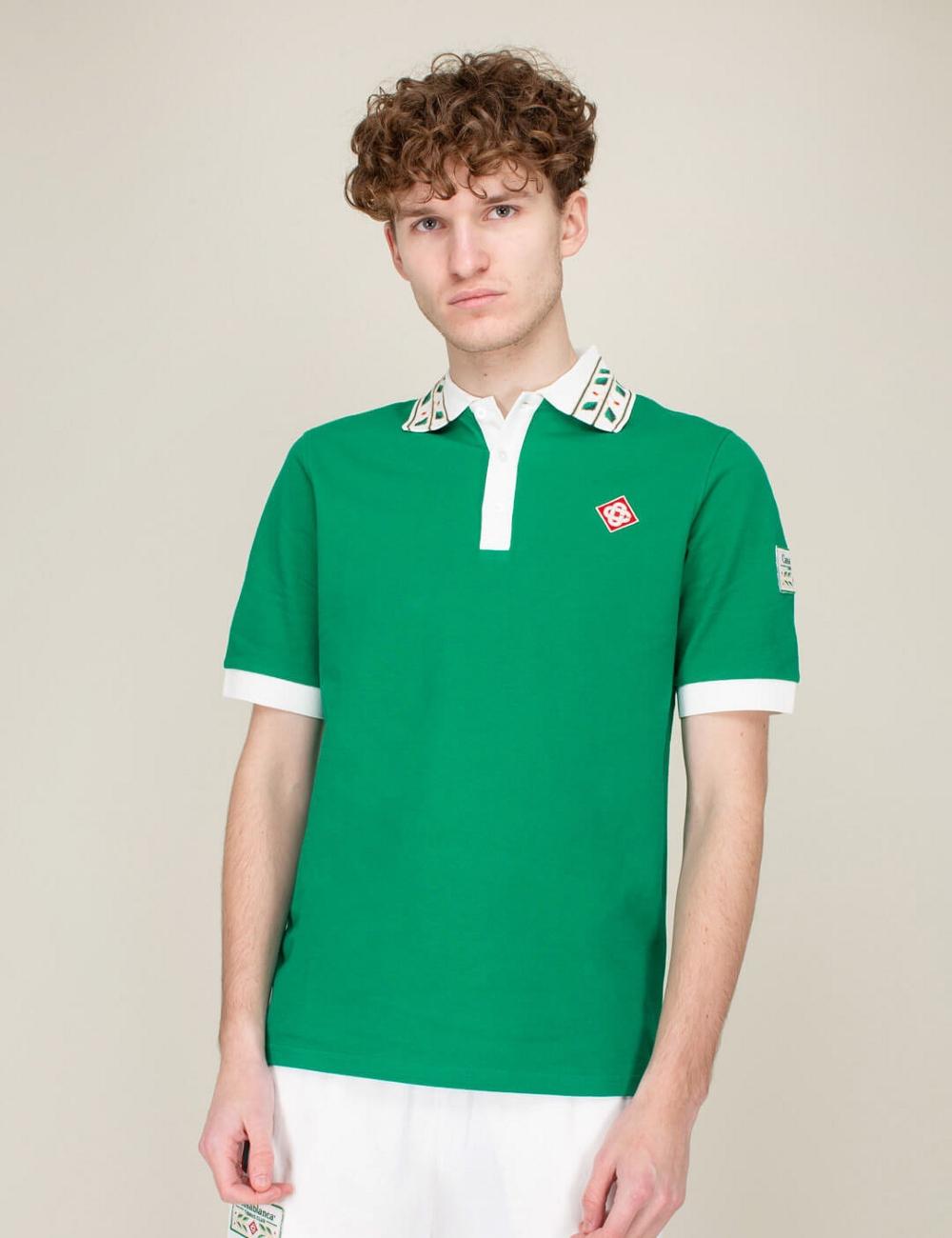 Casablanca Laurel Classic Polo Shirt Green