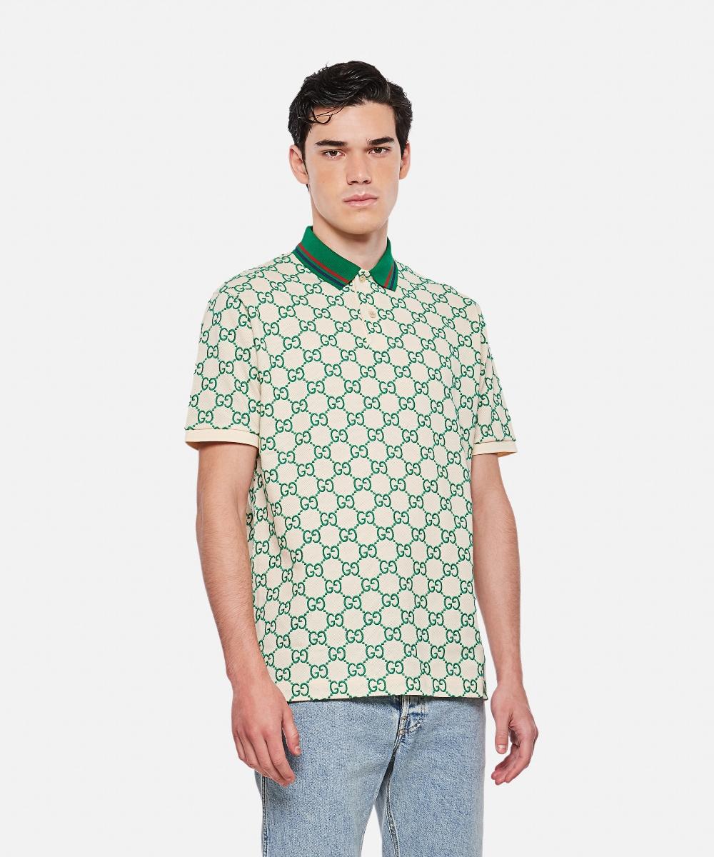Gucci GG Stretch Cotton áo Polo
