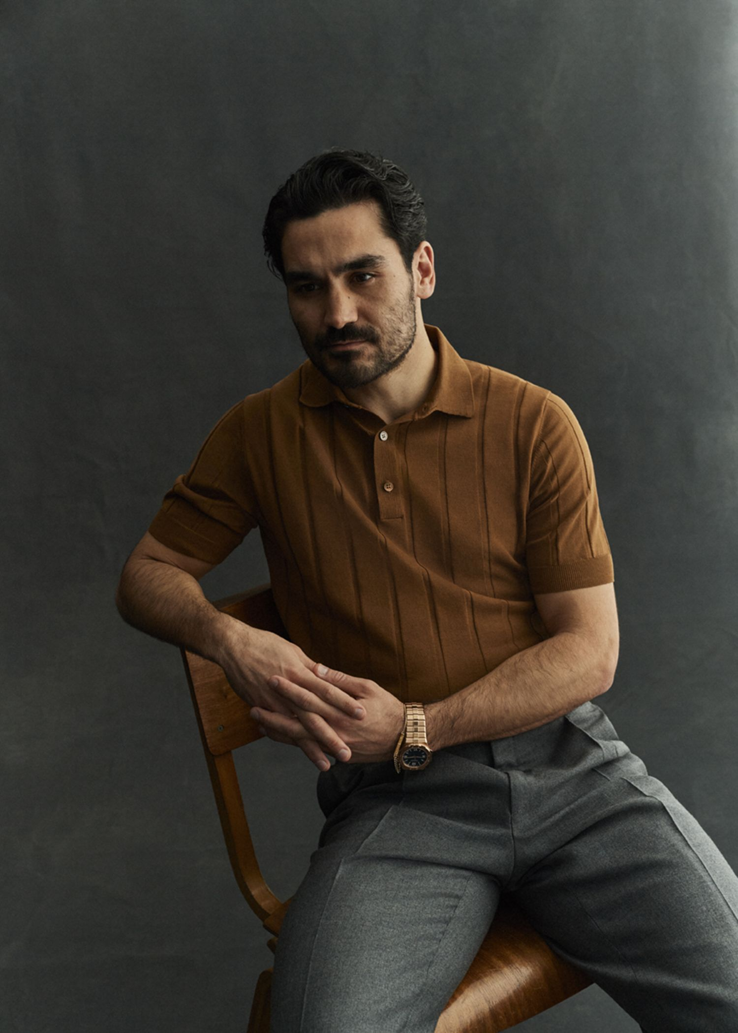 Ikkay Gundogan mặc áo polo