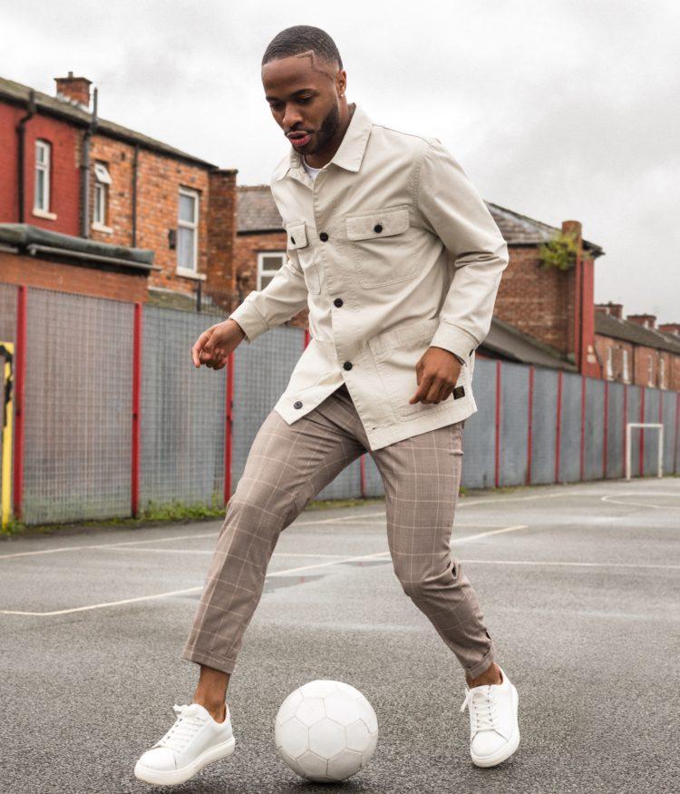 Raheem Sterling trong lookbook cảu H&M