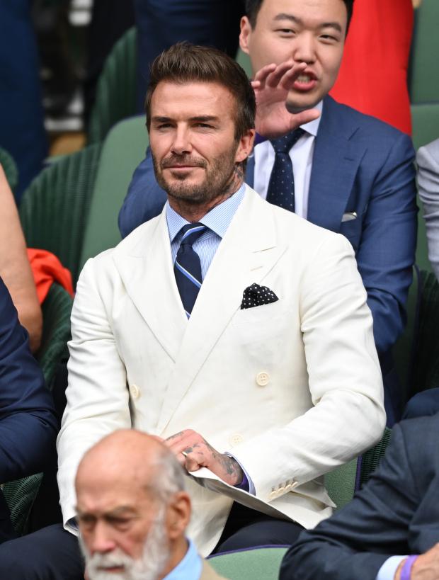 thời trang David Beckham tại Wimbledon