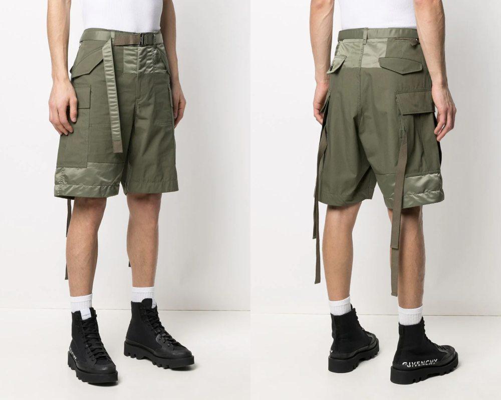 Sacai Oxford Cargo Shorts.