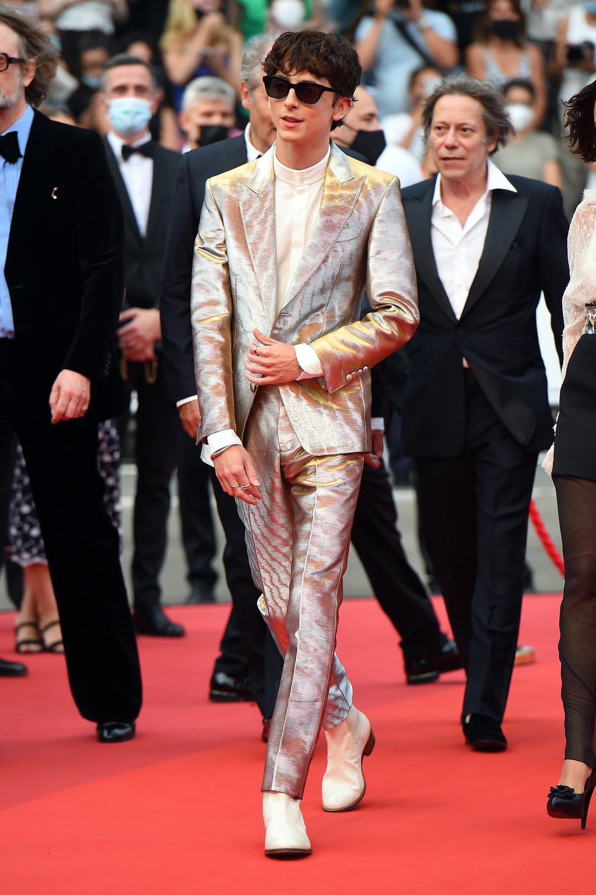 Timothee Chalamet tại Liên hoan phim Cannes vào ngày 12/7/2021.