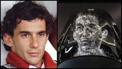 Nghệ sĩ Hom Nguyen tái hiện chân dung huyền thoại F1 Ayrton Senne