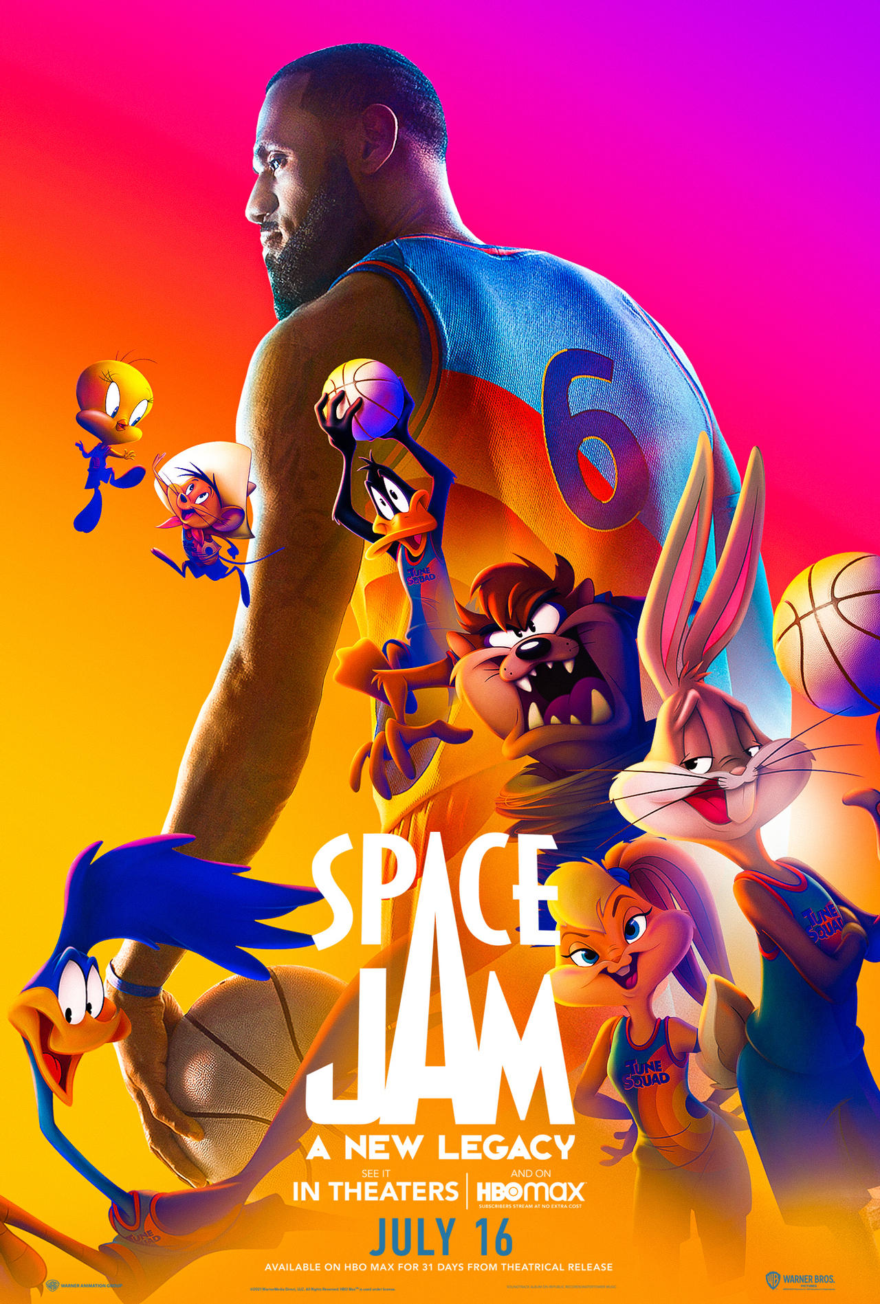 phim space jam: a new legacy poster
