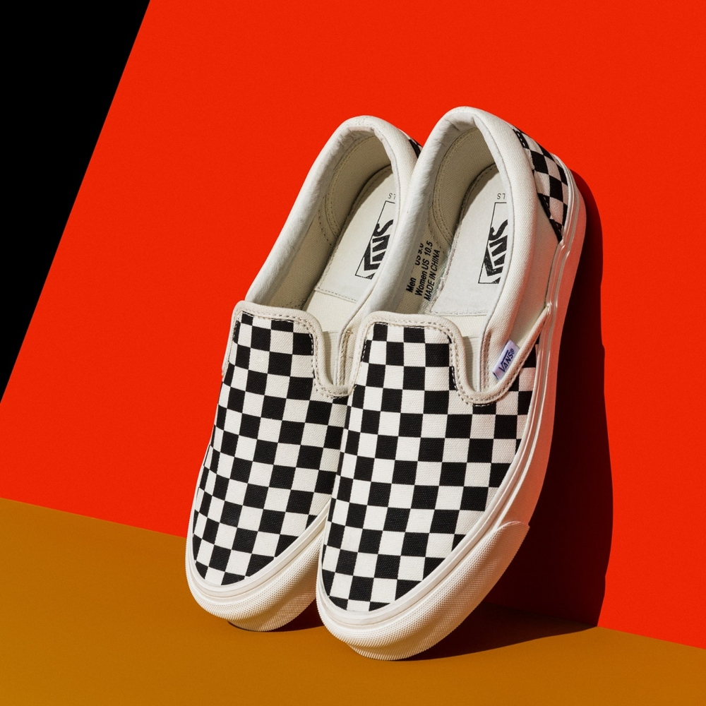 VANS CLASSIC SLIP-ON CHECKERBOARD outfit men