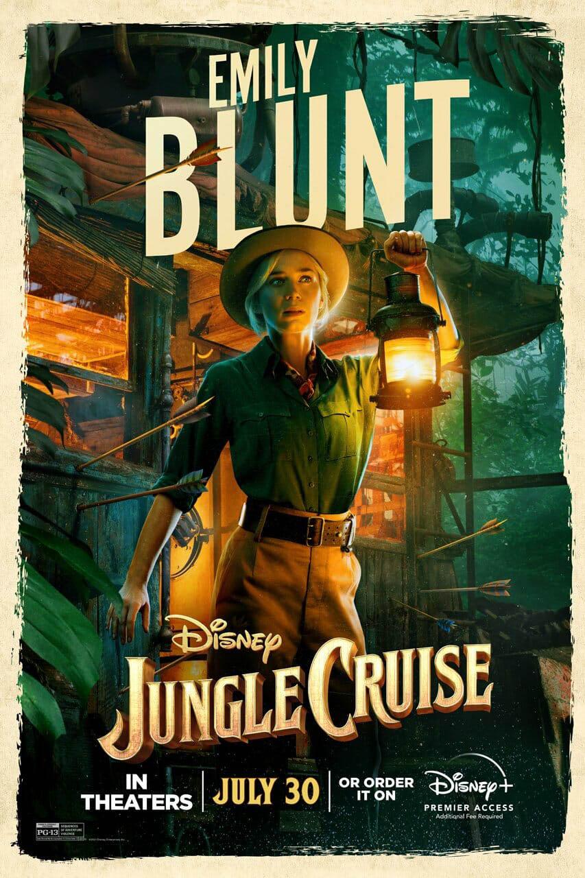 poster jungle cruise - diễn viên Emily Blunt.