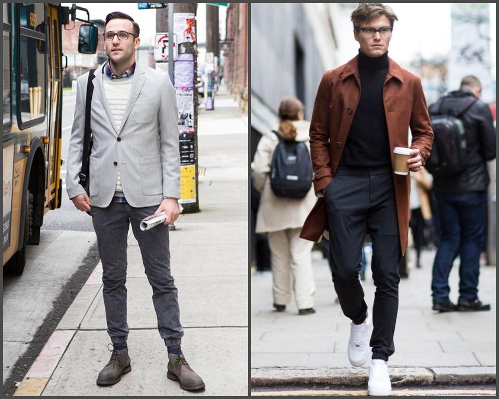 quần jogger phối theo phong cách smart-casual.