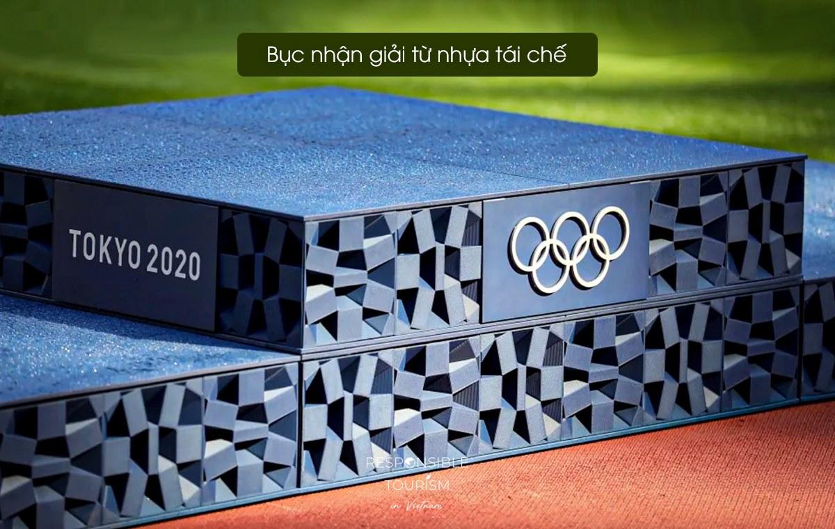 Bục nhận giải tại Olympic Tokyo 2020.