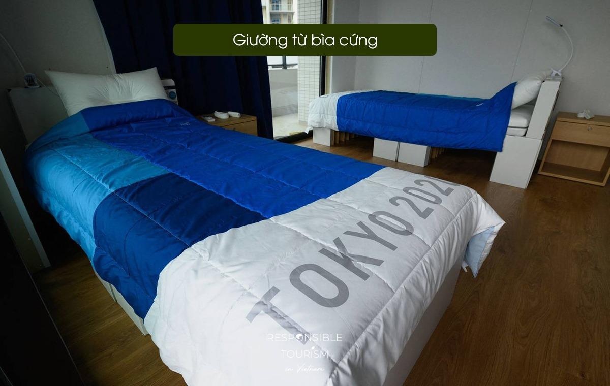 Giường ngủ tại Olympic Tokyo 2020.
