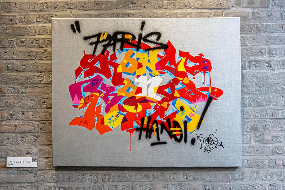 Bức tranh Paris - Ha Noi của Cyril Kongo