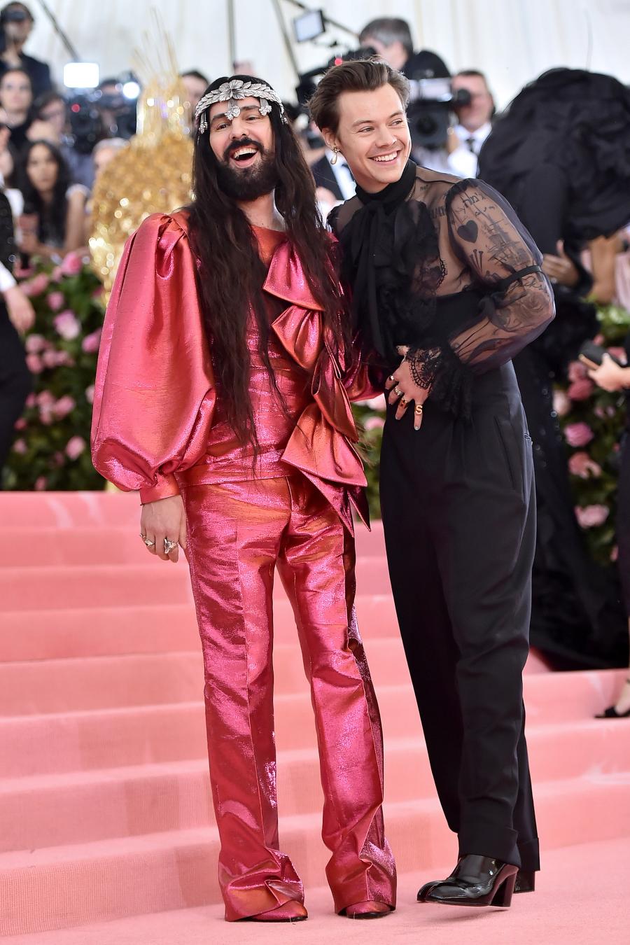 Harry Styles và Alessandro Michele tại met gala 2019