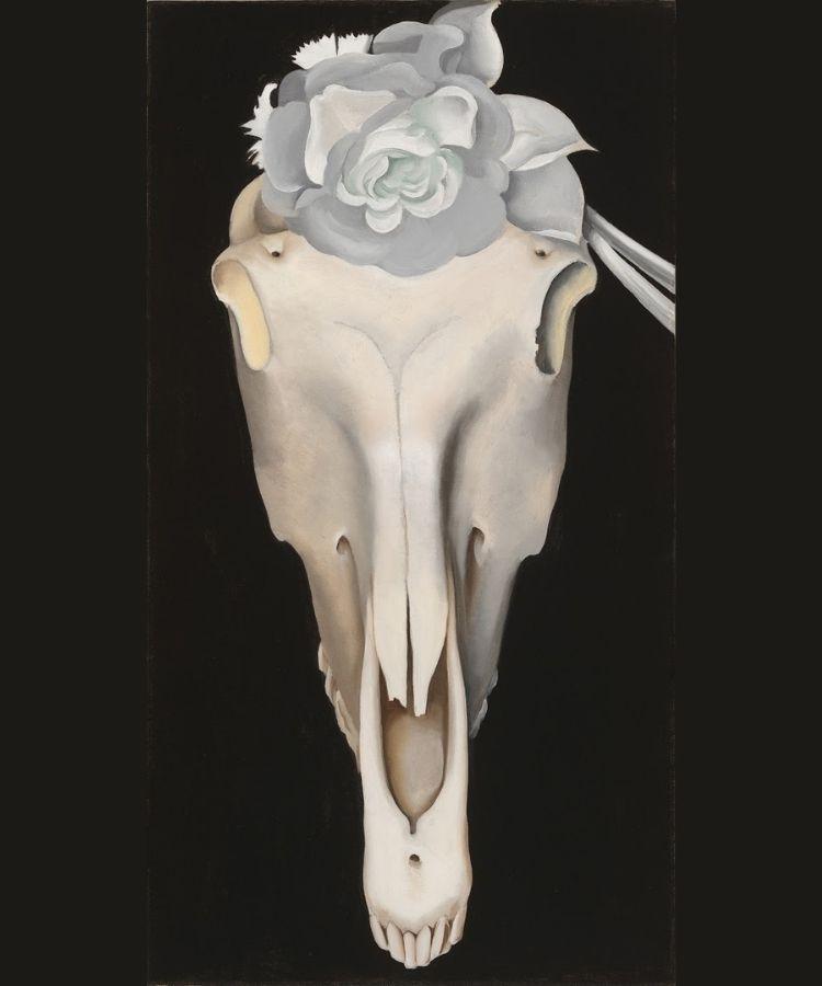 Horse Skull With White Rose - 1931