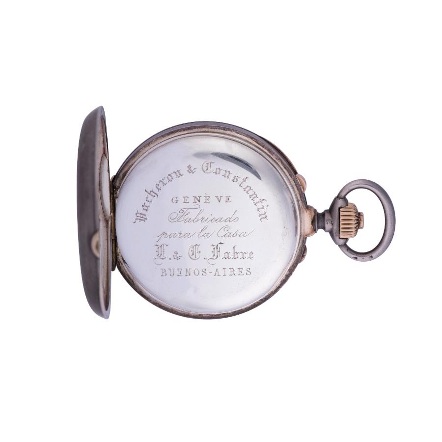 Vacheron Constantin Đồng hồ bỏ túi từ bạc và vàng đỏ, bấm giờ tách giây (Inv. Ref. 11092) - 1889