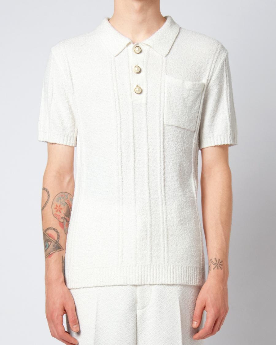 Casablanca Boucle Knit Poloshirt